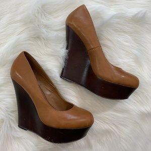 Steve Madden | Pannick Leather High Heel Wedges